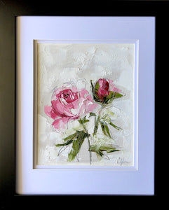 """Peony Vignette XII"" 10x8"" Oil/Graphite on Paper"