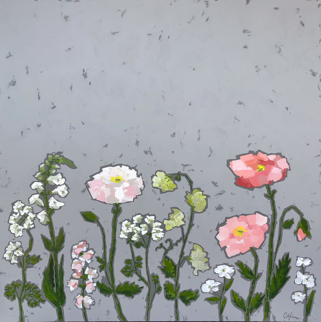 "SOLD - ""Pops of Pink Poppies"""