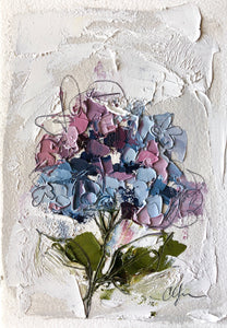 """Little Hydrangea IV"" 6x4 (9x7) Oil/Graphite on Paper"