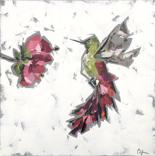 """Hummingbird no. 1"" 20x20"