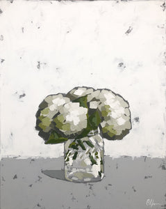 "SOLD - ""Hydrangea in Ball Jar"""