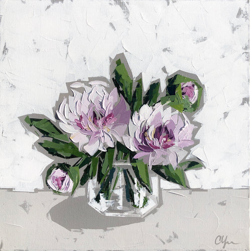 "SOLD - ""Peonies in Glass no. 6"""