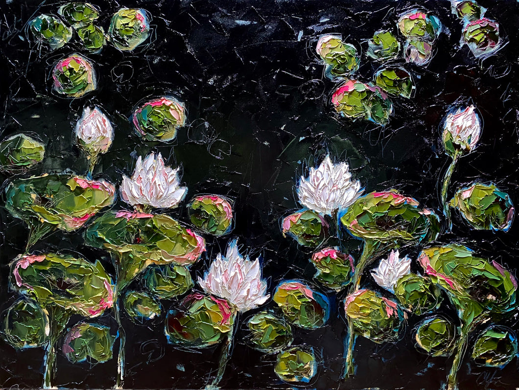 Campbell Commission - Lilies and Lotuses - 36x48