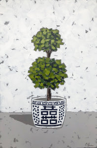 "SOLD - ""Double Happiness Topiary I"""