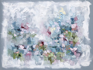 """Abstract Garden I"" 30x40 Oil/Graphite on Canvas"