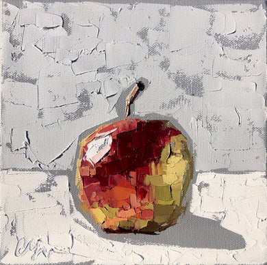 "SOLD - ""Gala Apple II"" 8x8 Oil on Canvas"