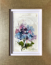 "Load image into Gallery viewer, ""Little Hydrangea IV"" 6x4 (9x7) Oil/Graphite on Paper"