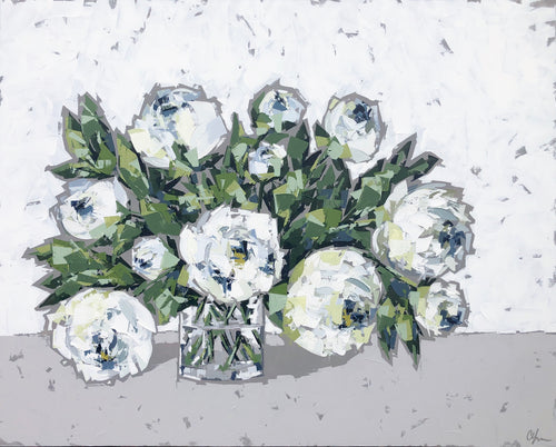 "SOLD - ""Peonies in Glass no. 5"""