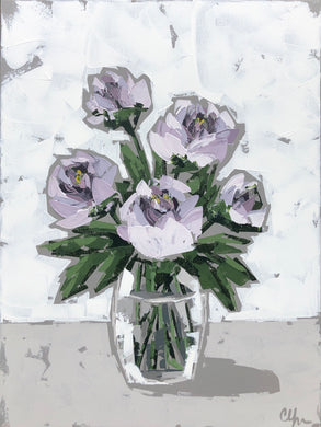 """Peonies in Glass VIII"" 24x18"