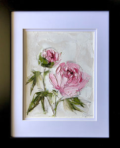 """Peony Vignette XIII"" 10x8"" Oil/Graphite on Paper"