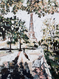 """Paris at Sunset"" 40x30"