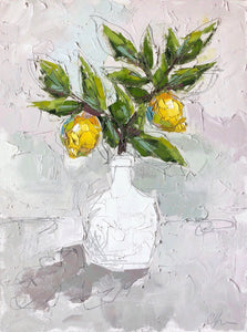 """Lemon II"" 24x18 Oil/Graphite on Canvas"
