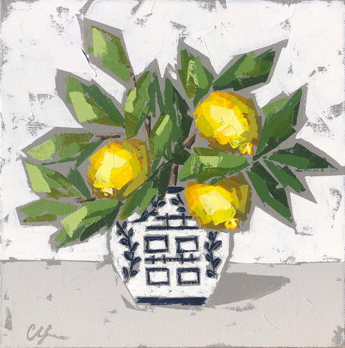 "SOLD - ""Double Happiness Lemons no. 2"""
