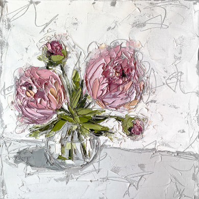 """Peonies in Glass II"