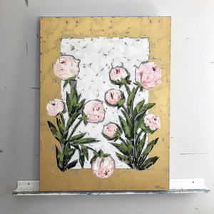 """Peonies on Gold"" 40x30"
