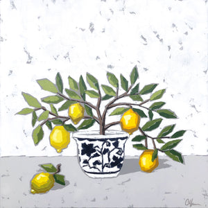 "SOLD - ""Lemons in Chinoiserie no. 1"""