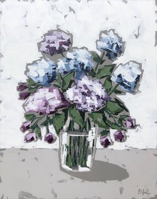 """Hydrangeas in Glass III"" 30x24"