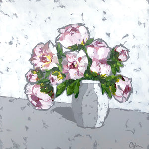 "SOLD - ""Peonies in Pottery"""