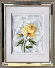 "Load image into Gallery viewer, ""PEONY VIGNETTE XXXIV"" 16.5x13.5 (10x8) Oil/Graphite on Paper"