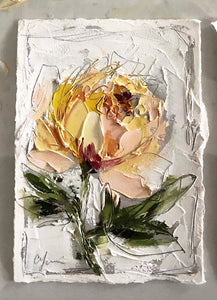 """Peach Peonies I and II"" - 5x7 Oil on Paper"
