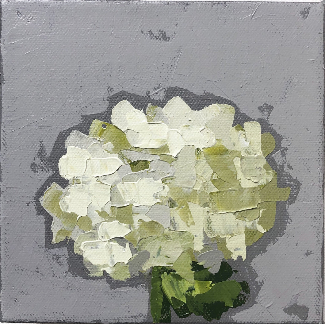 "SOLD - ""Little Green Hydrangea no. 1"""
