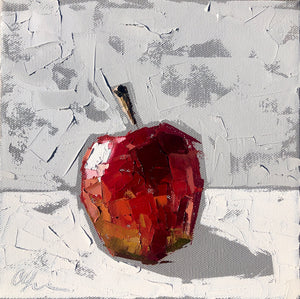 """Gala Apple I"" 8x8 Oil on Canvas"
