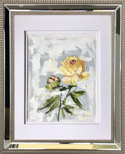 "Load image into Gallery viewer, ""PEONY VIGNETTE XXXIII"" 16.5x13.5 (10x8) Oil/Graphite on Paper"