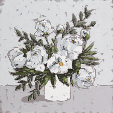"""Peonies in White II"""