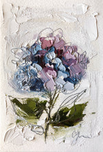 "Load image into Gallery viewer, ""Little Hydrangea III"" 6x4 (9x7) Oil/Graphite on Paper"