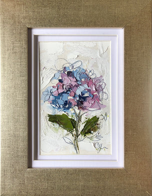 """Little Hydrangea V"" 6x4 (9x7) Oil/Graphite on Paper"