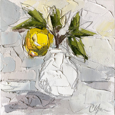 """Lemon I"" 8x8 Oil/Graphite on Canvas"