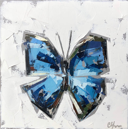 """Blue Morpho no. 1"" 8x8"