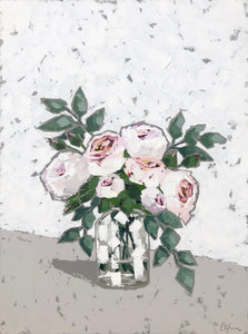 "SOLD - ""Peonies in Glass III"""