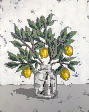"SOLD - ""Lemons in Glass IV"""