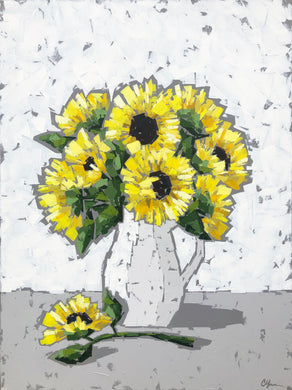 """Sunflowers in Pitcher"" 40x30"
