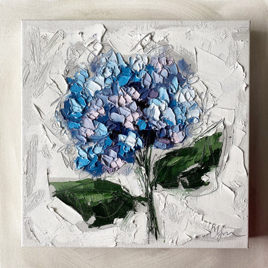 """French Hydrangea I"" 12x12 Oil on Canvas"