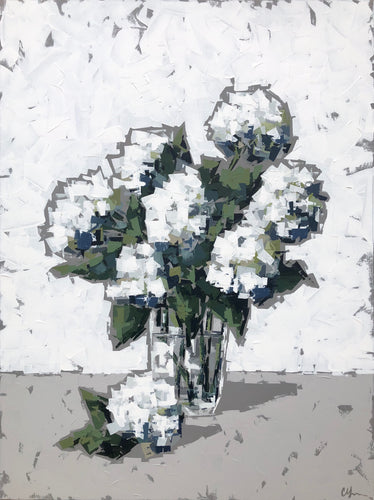 """Hydrangeas in Glass"" 48x36"
