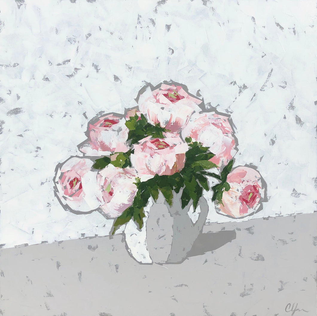"SOLD - ""Peonies in a Pitcher"""