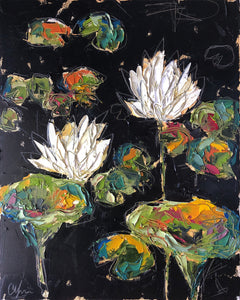 """Lilies and Lotuses VII"" 20x16 Oil on Canvas"