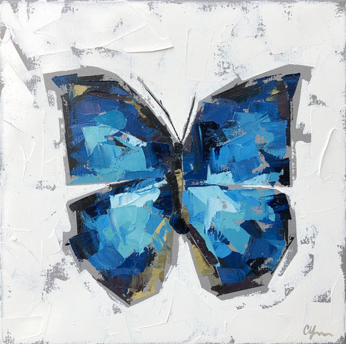 """Blue Morpho no. 2"" 12x12"