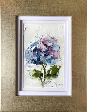 """Little Hydrangea VI"" 6x4 (9x7) Oil/Graphite on Paper"