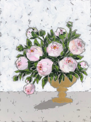 "SOLD - ""Peonies in Gold no. 3"""