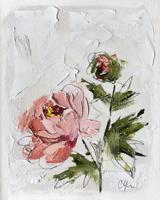 """PEONY VIGNETTE XXVII"" 16.5x13.5 (10x8) Oil/Graphite on Paper"