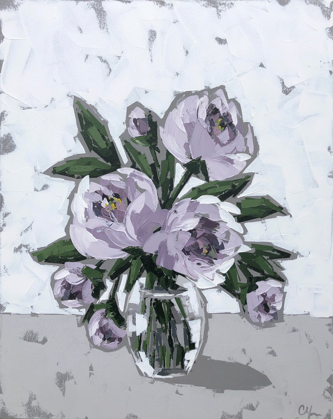 """Peonies in Glass VII"" 30x24"