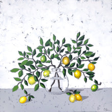 "Load image into Gallery viewer, SOLD - ""Lemons in Glass"""