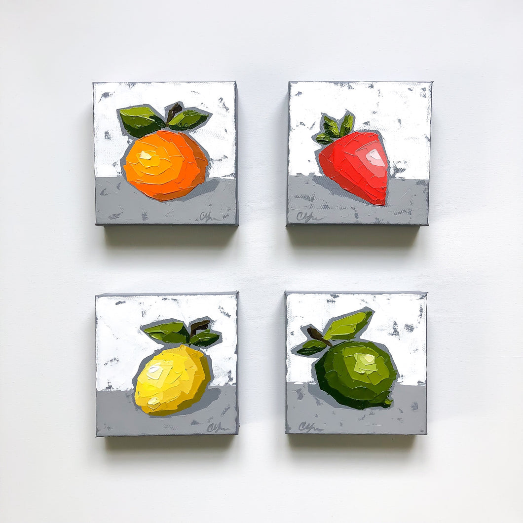 "SOLD - ""Little Fruit 4 Piece Collection"""