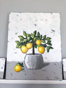 "SOLD - ""Lemon Tree and Little Fruits"""
