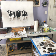 "Load image into Gallery viewer, ""Curious Cows"" 