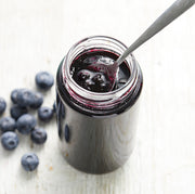 Wild Blueberry Spread on a spoon