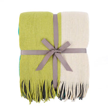 Load image into Gallery viewer, Four-color Stitching Cashmere Throw Blanket